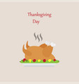 thanksgiving day logo design roasted turkey vector image