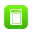 thick book icon digital green vector image vector image
