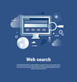 web search template internet banner with copy vector image