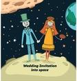 Wedding invitation into space
