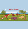 wild dinosaur world background vector image vector image