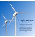 Wind generators vector image
