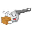 with box character pizza cutter with handle vector image