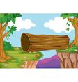 wood bridge in nature vector image vector image