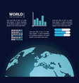 world infographic concept vector image vector image