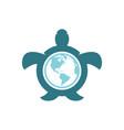 world tortoise design vector image vector image