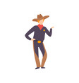 young man dressed as cowboy guy in bright vector image vector image