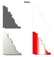 Yukon blank outline map set vector image vector image