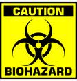 caution biohazard sign vector image