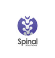 spine pain medical logo vector image