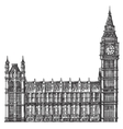 big Ben logo design template London or vector image