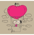 Valentines day card Couple love vector image