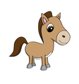 Cartoon of a cute little pony vector image