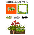 a pack of cute cricket vector image vector image