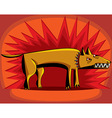 Angry dog over red flash vector image