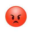 angry smile emotion reaction symbol icon vector image