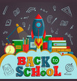 back to school creative background with colorful
