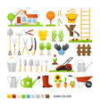 big set of elements for gardening vector image