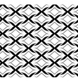 Black and white seamless pattern twist line style vector image