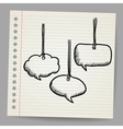 Blank doodle speech bubbles vector image vector image