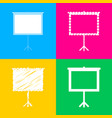 blank projection screen four styles of icon on vector image vector image
