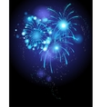 Blue firework vector image vector image
