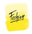 Brush lettering fashion