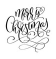 calligraphic inscription merry christmas with vector image