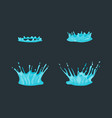 cartoon dripping water effect set various types vector image vector image