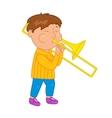 Cartoon musician kid for vector image