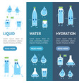 cartoon water funny emotions bottle banner vector image vector image