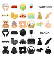 charity and donation cartoon icons in set vector image