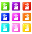 chocolate bar icons 9 set vector image vector image