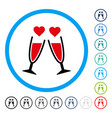 clink glasses rounded icon vector image vector image