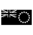cook islands flag black and white country vector image