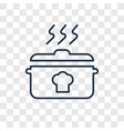 cooking concept linear icon isolated on vector image
