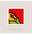 Corn stamp Harvest Thanksgiving vector image vector image