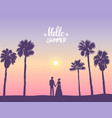 couple palm trees vector image vector image