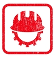 Development Hardhat Icon Rubber Stamp vector image