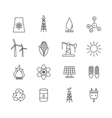 Energy icons in art line style vector image vector image