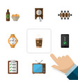 flat icon life set of beer with chips boardroom vector image vector image