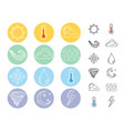 flat weather icons vector image vector image