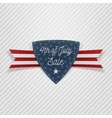 Fourth of July Sale Tag with Ribbon vector image vector image
