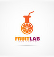 fruit lab logo vector image vector image