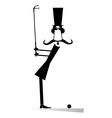 Gentleman golfer vector image