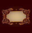 golden vintage frame template vector image vector image