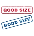 Good Size Rubber Stamps vector image vector image