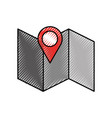 gps map pointer cartoon vector image vector image
