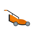grass cutter icon flat style vector image vector image