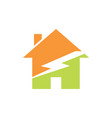 green home energy logo vector image vector image